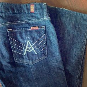 7 for all mankind jeans with Swarovski crystals